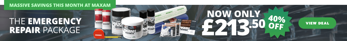 Massive savings this month at Maxam - The Emergency Repair Package is now only £213.50