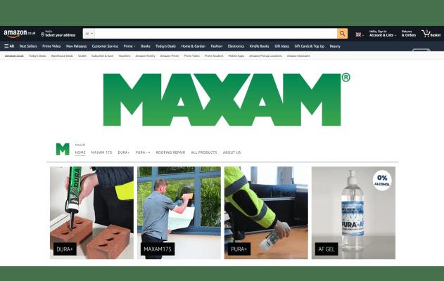 Maxam Amazon Shop Page